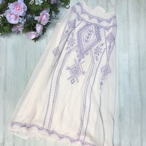 Altar'd State Shift Dress Embroidered Purple